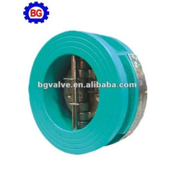 plaque double en fonte wafer check valve