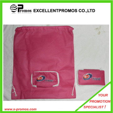 Promotional Customized Logo Foldable Drawstring Shopping Bags (EP-B7141)