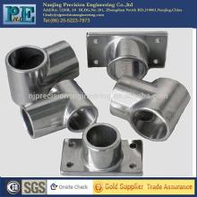 Raccord de tuyauterie en tôle en acier inoxydable personnalisé de haute qualité