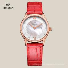 Business Watch para senhoras com pulseira de couro genuíno 71078