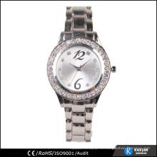 Pulsera de reloj barata del diamante de las señoras del reloj al por mayor, reloj de pc21 del japón