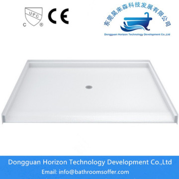 Modern bathroom corner bath shower tray