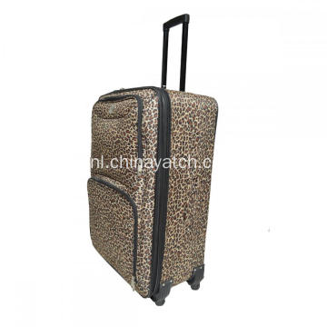 Mode Luipaardprint Softshell Trolleybagage