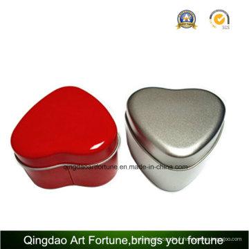 Coeur forme Travel Tin bougie avec finition imprimée