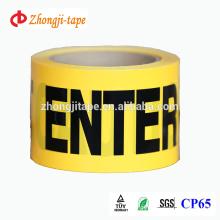 Fita de barreira PE não adesiva de 75mm * 100m