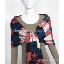 Écharpe multicolore en tricot acrylique