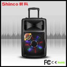 Populaire 12 haut-parleur de DJ portable en plastique de 15 pouces avec la batterie