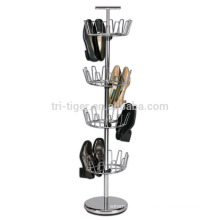 wholesale 4 tier revolving metal wire shoe rack,tree shoe rack
