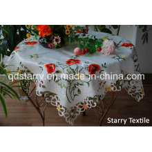 Fh-15 Tablecloth Flower Design 100%Polyester