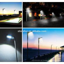 50w panel solar integrado luz de calle solar, todo en un jardín solar luz modular de diseño