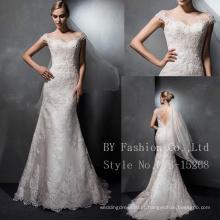 Luxo de noiva vestida de alta qualidade uma linha vestido curto de festa casamentos vestidos de dama de honra vestidos de noiva de sereia