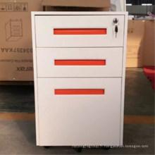 Chine luoyang en gros bureau meubles 3 tiroirs en métal sur colonne mobile classeur