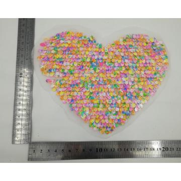 Best sells colorful heart iron on patches