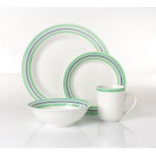 Servicio de mesa de placa de cerámica taza taza 16pcs