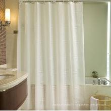 Rideau de douche 100% polyester pour l'hôtel