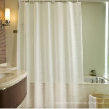 100% Polyester Shower Curtain for Hotel