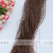 Best Quality for Pearl Wire Garland Wild Dark Coffee Artificial Wire Pearl Acrylic Beaded Chains export to Virgin Islands (U.S.) Supplier