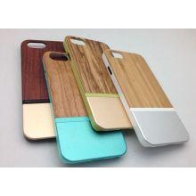 para el iPhone 6 Plues madera Metal híbrido casos parachoques