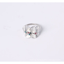 Fashion Jewelry Ring with Flower and Enamel