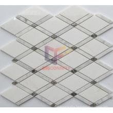 Diamond Shape White Stone Mosaic for Kitchen Splash (CFS1143)