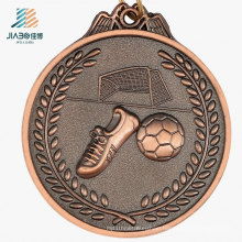 Good Quality Kirsite Casting Antique Bronze Metal Football Medal