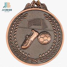De boa qualidade Kirsite Casting Bronze Antique Metal Soccer Medal