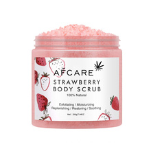 Add to Compareshareoem Wholesale Natural Strawberry Body Scrub Pink Body Exfoliator Scrub Deep Cleansing Facial Body Scrub