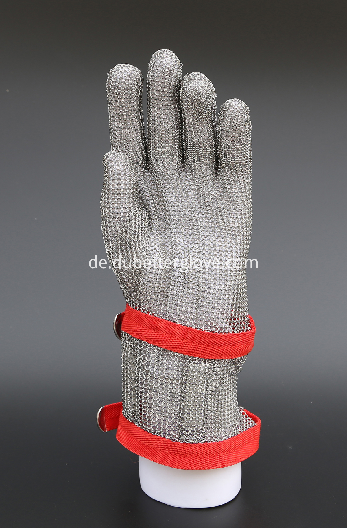 steel mesh glove with 8 cm cuff