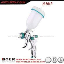 Hot Sale HVLP Spray Gun with plastic gravity cup H-601P