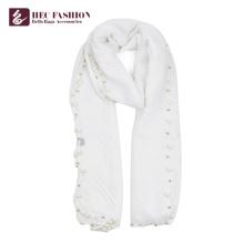 HEC New Fashion Logo Print Bufanda de seda de seda de cuadros de poliéster para mujer