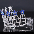 Royalblue цветок короны горный хрусталь тиара хрустальные короны для вечеринок