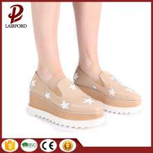 TPR 6cm high heel wedge casual shoes