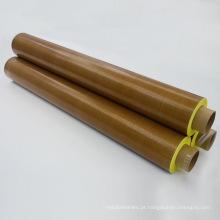 Fita de tecido revestida de PTFE marrom com adesivo