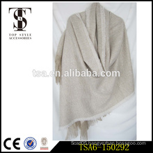 long white wool knitted herringbone poncho 100 percent acrylic shawl capes