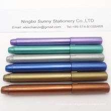 Metallische Farbmarkierung Schreiben Sie auf das Glas