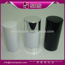 ball shape plastic container packaging and roll on deodorant bottle plastic 75ml for cosmetic compacts