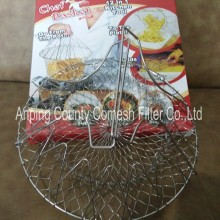304 Stainless Steel Collapsible Wire Frying Basket