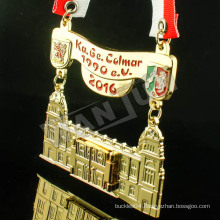 custom gold saint medal for school Competition