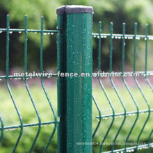 hook style curved metal fence