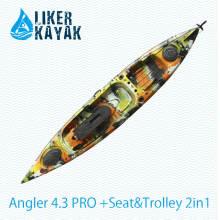 Liker Kajak Pedal Ruder Control Fischen Kajak mit Motor Option