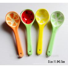 SP1526 Haonai Маленькая прекрасная керамическая ложка, керамическая ложка супа