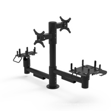 Double screen rotate adjusted height and angle mounting solutions pos pole mounting