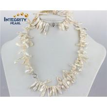 Natürliche Süßwasser Schmuck Perle Set Biwa White Pearl Set Designs