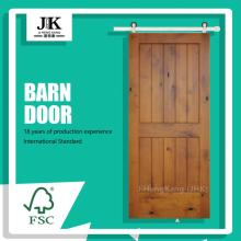 JHK-SK01 JHK-SK01 Pine Wooden Stainless Hardware Wooden Barn Door
