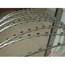 El alambre de púas galvanizado de la maquinilla de afeitar del hierro de la fábrica profesional