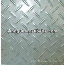 7075 plaque à damier en aluminium