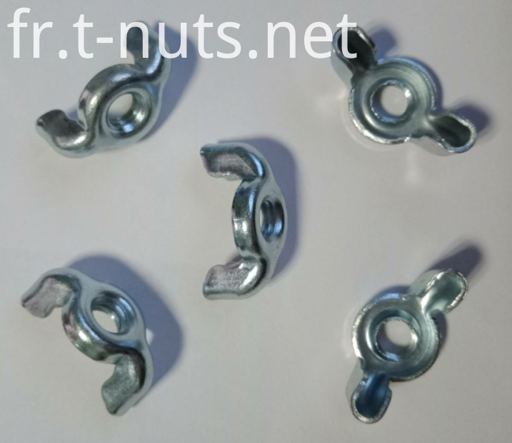 M6Carbon steel Thread with thread Wing nuts