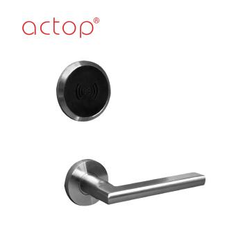 Free Software 304 stainless steel Electronic Smart Hotel Door Handle Lock