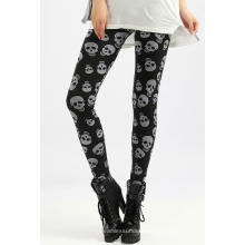 Nahtloser Damen-Leggings mit Skelett Kopf Designs