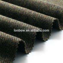 Cheap 100% wool green jacket fabric wool tweed in stock